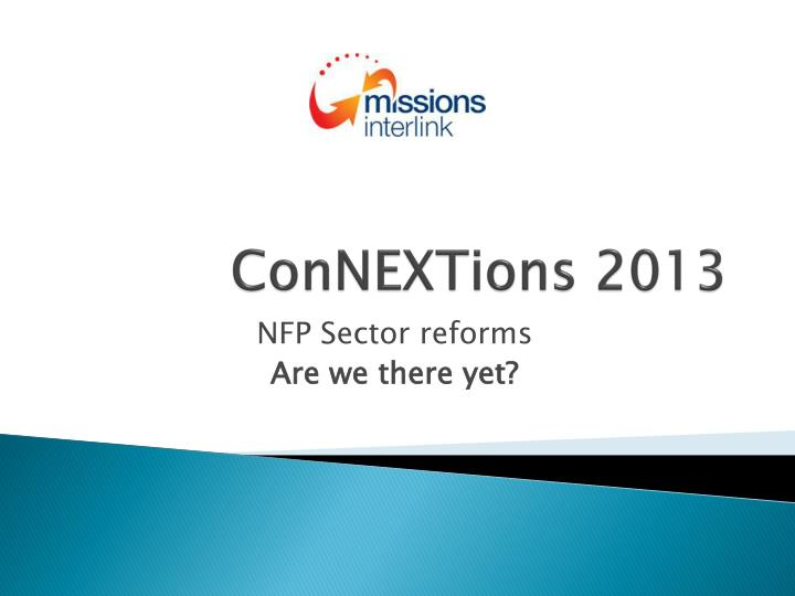 connextions 2013 n.