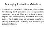 managing protection metadata