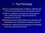 1 the porfiriato