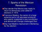 7 sparks of the mexican revolution