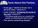 facts about this famine