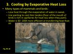 3 cooling by evaporative heat loss