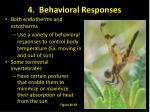 4 behavioral responses