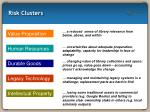 risk clusters