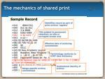 the mechanics of shared print