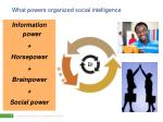 what powers organized social intelligence