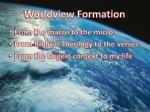 worldview formation