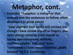 metaphor cont