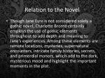 relation to the novel