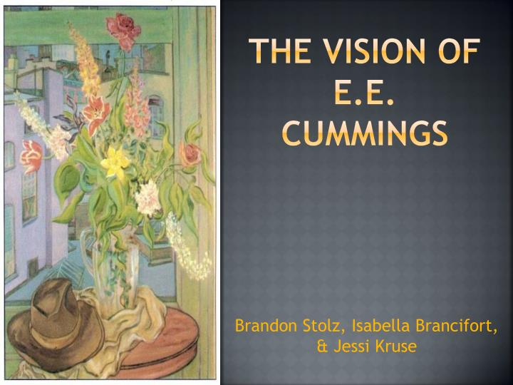 the vision of e e cummings n.