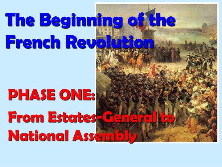 the beginning of the french revolution n.
