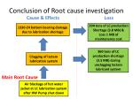 conclusion of root cause investigation