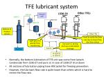 tfe lubricant system