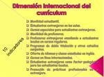 dimensi n internacional del curr culum1