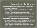 greenglass s testimony