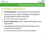 assessment staff accounts