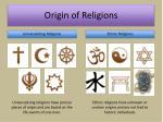 origin of religions