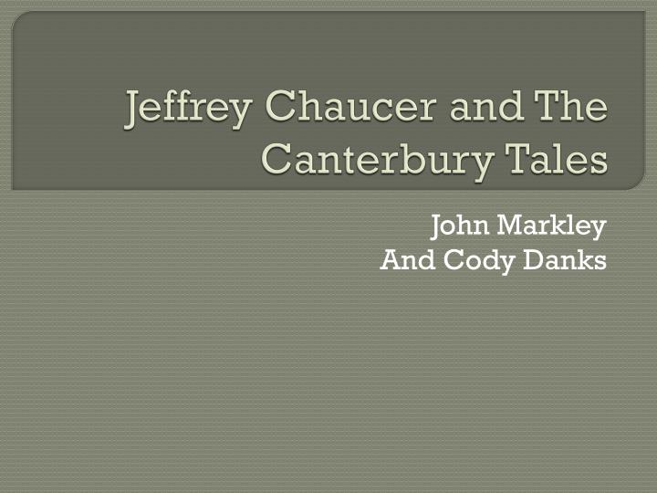 jeffrey chaucer and the canterbury tales n.