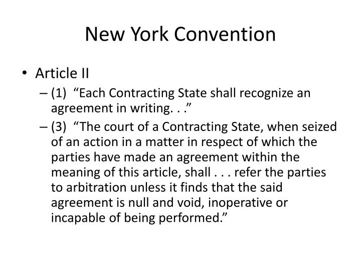 Ppt Jurisdiction And Enforcement Of Arbitration Agreements