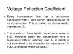 voltage reflection coefficient