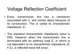 voltage reflection coefficient