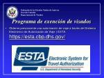 programa de exenci n de visados