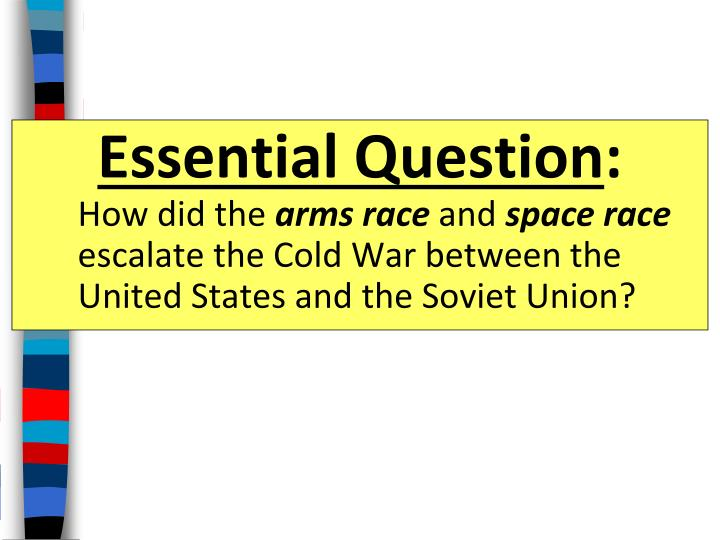 space race and cold war essay The cold war space race - facts for kids the space race was of critical importance to both the ussr and the usa both nations wanted to prove to the world that which country had the best scientists, the most advanced technology and the best economic system to support the projects.