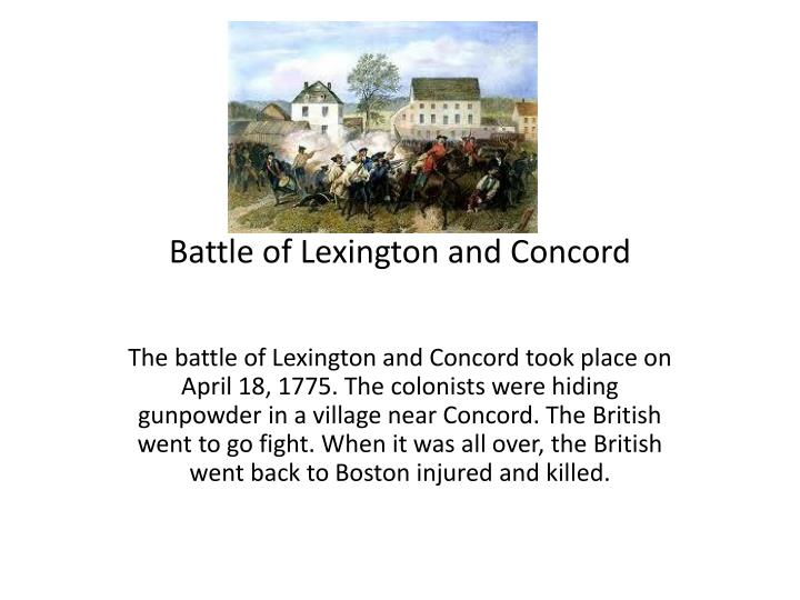 battle of lexington and concord n.