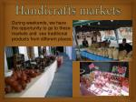handicrafts markets