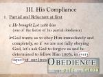 iii his compliance3