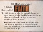 iii his compliance4