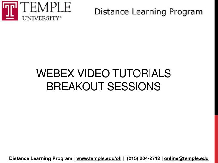 webex video tutorials breakout sessions n.