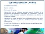 contingencia para la crisis1