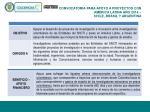 convocatoria para apoyo a proyectos con am rica latina a o 2014 chile brasil y argentina