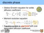 discrete phase2
