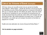 calcul du volume d essai exemple