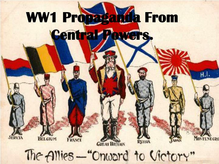 ww1 propaganda from central powers n.