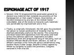 espionage act of 19172
