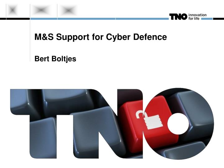 m s support for cyber defence n.