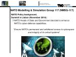 nato modelling simulation group 117 nmsg 117