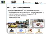 tno s cyber security e xpertise