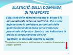 elasticit della domanda di trasporto