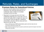 refunds rates and surcharges