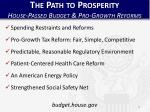 the path to prosperity house passed budget pro growth reforms