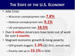 the state of the u s economy