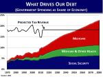 what drives our debt government spending as share of economy