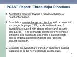 pcast report three major directions