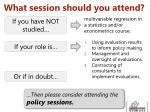 what session should you attend1