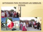actividades para recordar los simbolos patrios