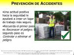 prevenci n de accidentes